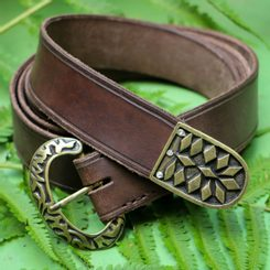 Early Medieval brown Leather Belt