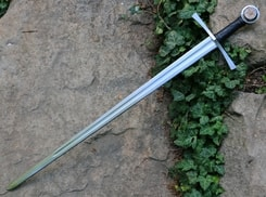 RONIR, medieval sword with a rose FULL TANG