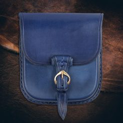 GENTLEMAN, Leather Belt Bag - Blue