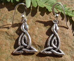 CELTIC SNAKES, silver earrings, Ag 925