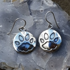CAT TRACK, earrings, silver