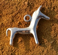 CELTIC HORSE, pendant, replica, bronze