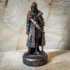 JAN ZIZKA from TROCNOV, tin figure - bronze patina