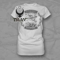 CZECHOSLOVAKIA resistance T-shirt Ladies NAAV white