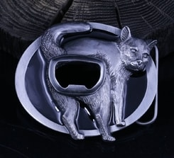 CAT, Beer Opener - belt buckle
