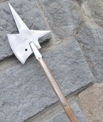 Halberd with cross, replica of a two-handed pole weapon