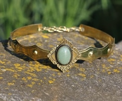 SIRAEL - MEDIEVAL GOTHIC CROWN with Aventurine