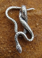 THE SNAKE, silver pendant, Ag 925