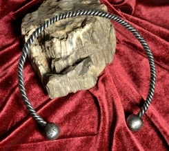 CELTIC TORQUES, hand forged torc