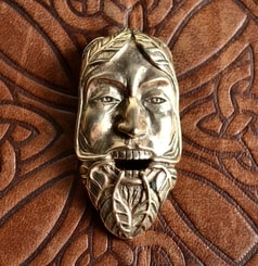 GREEN MAN, the Lord of the Nature and Rebirth, bronze pendant