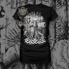 VELES, Slavic God, women's T-Shirt NAAV black/white