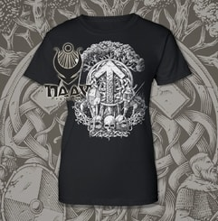 TIWAZ - Collection FUTHARK, women's T-Shirt B&W
