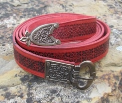 GOTICA, medieval long belt, red