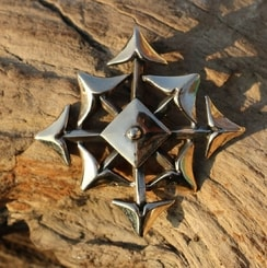 STAR OF CHAOS, Chaosphere, bronze, pendant