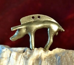 BOAR from Gallia, 1st Century, brass finish