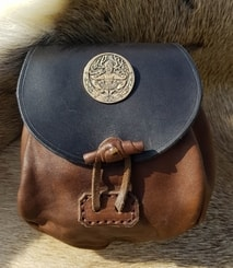 CERNUNNOS, Leather Medieval Bag