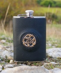 Hip Flask, Celtic Art
