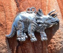Triceratops prorsus, Amulett, Talisman Silber, Ag 925