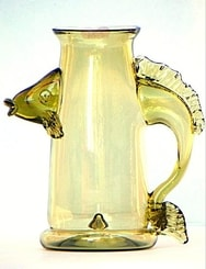 HISTORICAL GLASS, half liter with the FISH