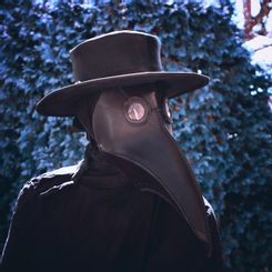 Plague Doctor, Leather Mask and Hat