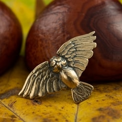 SMALL OWL, pendant, bronze