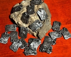 FORGED RUNIC PENDANTS, wholesale set