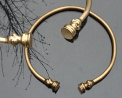 CELTIC TORC, decorated, brass