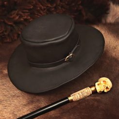 LEATHER HAT, black