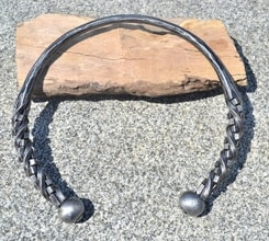 CUBIC, hand forged torc