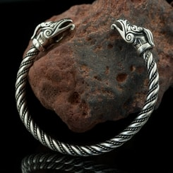 DRAIG - Celtic Dragon, sterling silver bracelet, 39 g.