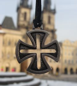 TEMPLAR CROSS, hand casted talisman