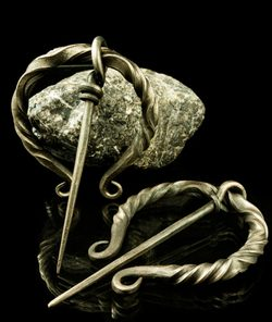 VIKING IRON BROOCH - decorated