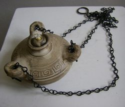 Hanging Oil Lamp - ceramic, 3 wick