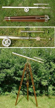LARGE BRASS TELESCOPE, for rental