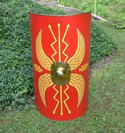 ROMAN SCUTUM, shield with thunderbolts