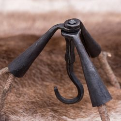Medieval Cauldron Tripod, forged