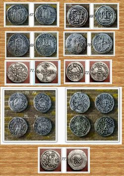 SET OF 11 DIFFERENT COINS, replicas