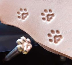 CAT Track, leather stamp