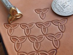CELTIC TRIQUETRA, leather stamp