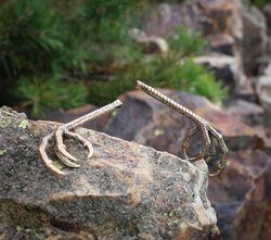 Bird Claw, Talon Pendant, bronze