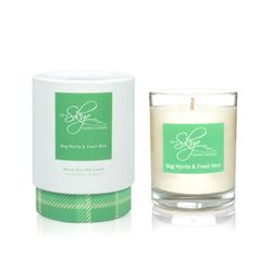 Bog Myrtle and Fresh Mint Votive Candle