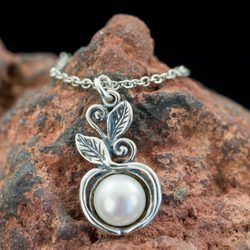 SYLVESTRA, necklace, sterling silver, pearl