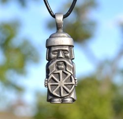 PAGAN SLAVIC IDOL, pendant, tin