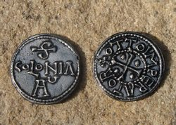 OTTO, 962 - 973, tin replica of a Frankish coin