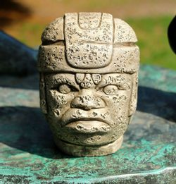 Olmec Head, San Lorenzo Tenochtitlan, sculpture, replica