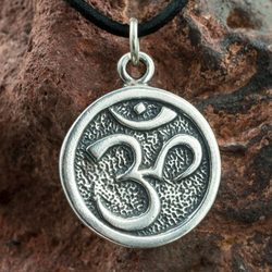 AUM YOGA TIBET JEWELS silver pendant Hinduistic