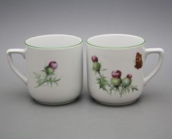 SCOTTISH THISTLE, Mug 0.4 l, Carlsbad porcelain