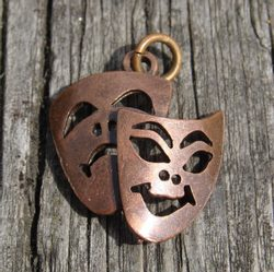 TRAGEDY AND COMEDY, Theatrical Masks, pendant
