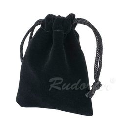 Jewelery pouch, velvet, black