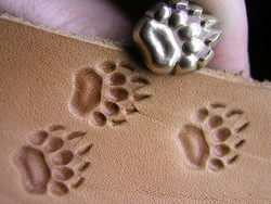Grizzly Bear Paw, leather stamp